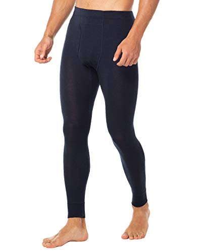 LAPASA Men's 100% Merino Wool Thermal Underwear Pants Long John Leggings Base Layer Bottom M30 (Medium, Navy)