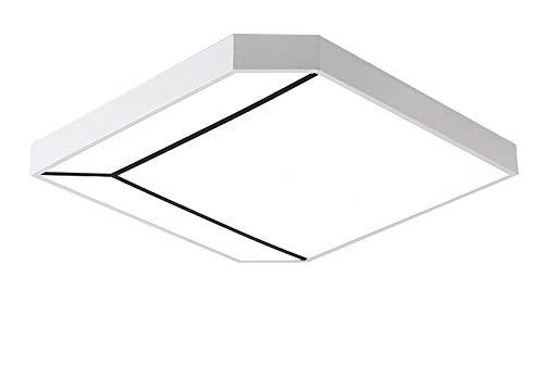 LED plafondlamp, 40W, moderne plafondlamp, ruimte plafondlicht, instelbaar licht, uitgerust met afstandsbediening, woonkamer werkkamer slaapkamer restaurant acryl L49CM×W49CM Wit