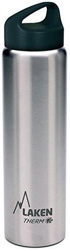 Laken Classic Botella Térmica Acero Inoxidable 18/8, Aislamiento de Vacío con Doble Pared y Boca Ancha, Plateado, 1000 ml