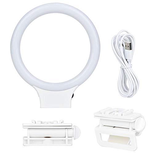 XJ-31 Luz de relleno de video regulable Luz de anillo LED USB con abrazadera de cabeza esférica 3500K-8500K