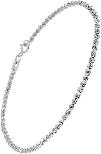 新宿銀の蔵 カット フレンチロープチェーン シルバー 925 アンクレット (長さ約21cm) シンプル silver sv