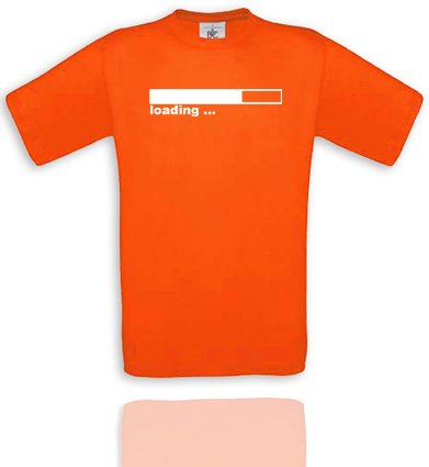 Comedy Shirts Plusieurs Coloris – Loading. T-Shirt Unisexe XXL - Sunset Orange/Weiss