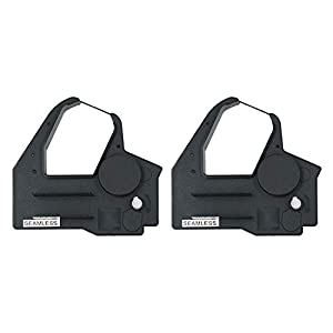 Printerfield Replacement Printer Ribbon 2 Pack for NCR 6600S - Black