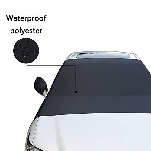 Qazxsw Blocco da Neve per Auto Copertura per Parabrezza Anteriore per Auto Antigelo antigelo Abbigliamento per Mezza Auto Copertura per Auto Copertura Protettiva per Auto universali