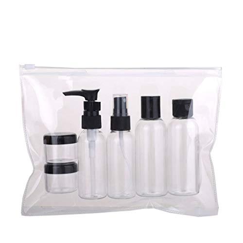 Yue668 Tragbare Travel Kit Vakuumflasche für kosmetische Flüssigkeit Leere tragbare Travel Cosmetic Container Kosmetische Punkte Abfülllotion Shampoo Bad Duschgel Tube Container Flasche (Transparent)