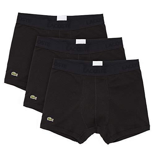 Lacoste Essentials Classic – Bañador para Hombre, 3 Unidades, 100% algodón, Negro, X-Small