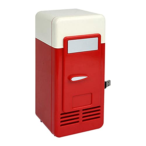 FIONAT Refrigerador eléctrico USB de escritorio portátil clásico de 5 V multifuncional práctico Mini refrigerador de enfriamiento de bebidas para automóvil