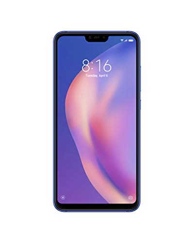 Xiaomi Mi 8 Lite, Dual Sim, 6GB RAM and 128GB Storage 6.26-Inch Android 8.1 UK Version SIM-Free Smartphone - Blue (Official UK Launch)