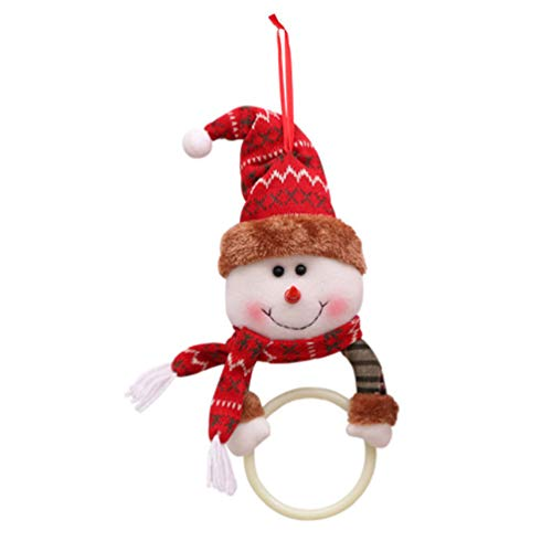 Amosfun Weihnachten Handtuchring Schneemann Puppe hängen Handtuchring Weihnachten Serviette hängen Anhänger home Party Dekoration