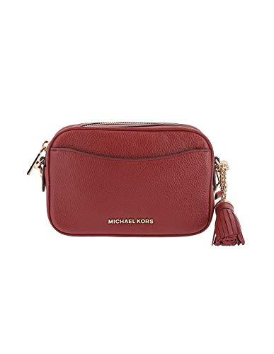 Michael Kors MICHAEL by Brandy Pebbled Leather Camera Bag, Leder-Umhängetasche, rote Umhängetasche, Damen-Umhängetasche Einheitsgroesse Rot