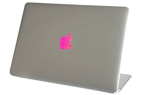 Pink Sparkles Macbook Air Logo Color Changer Vinyl Sticker Decal Mac Apple Laptop Shiny Sparkly Glitter