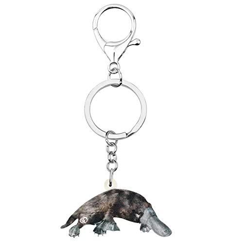 HHAA Acryl Entenschnabel Schnabeltier Schlüsselanhänger Schlüsselring Schöne Tier Schlüsselanhänger Schmuck Für Frauen Kid Girl Geschenktüte Party Zubehör