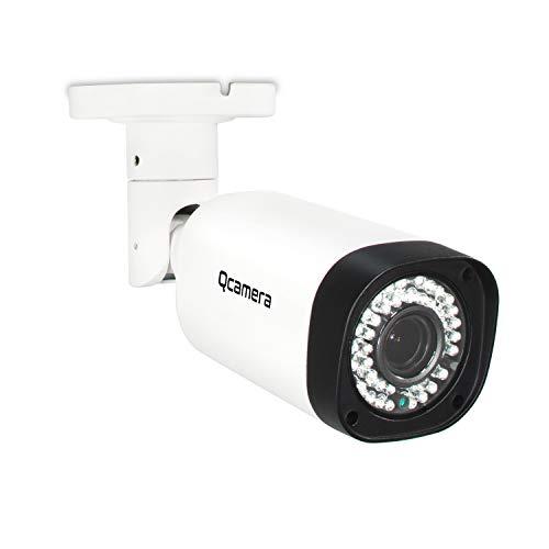 "Q-camera Cámara de Seguridad de Bala 5MP TVI/CVI/AHD/CVBS 1/2.5"" Sensor Variante de 2.8-12mm Lente De 130 Pies 42Leds IR De VisióN Nocturna para Sistemas De Vigilancia En Interiores Al Aire Libre"