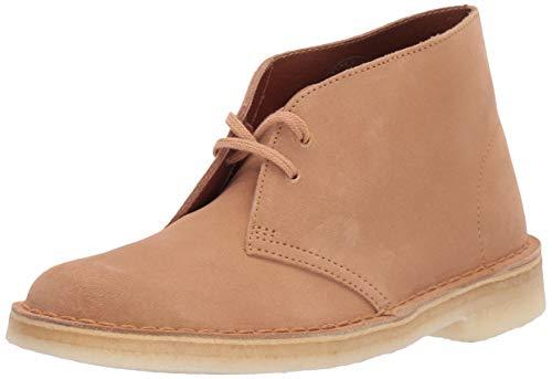 Clarks Women's Desert Boots, Light tan Suede, 070 M US