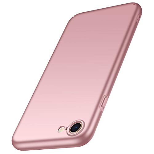 anccer Cover iPhone SE 2020 [Alta qualità] [Ultra Slim] Anti-Scratch Hard PC Case Custodia per Cover iPhone SE 2020 (Oro Rosa Liscio)