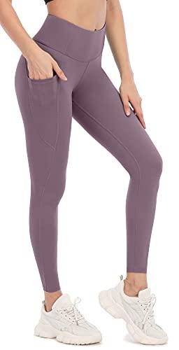 Attraco High Waist Sporthose Yoga Sporthose Damen Yogahose Sport Yogahose High Waist Yogahose Lila S