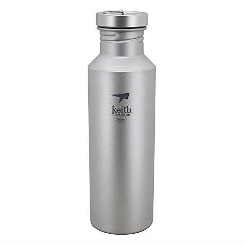 Keith - Botella de agua deportiva o para camping (700 ml, ti