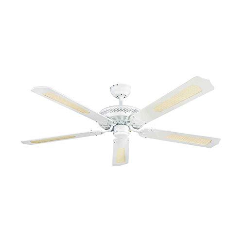 Lindby Deckenventilator leise mit Zugschalter |Ventilator | Durchmesser: 132 cm | 3 Geschwindigkeitsstufen | Sommer- und Winterbetrieb | für Wohnzimmer, Esszimmer, Schlafzimmer, Kinderzimmer