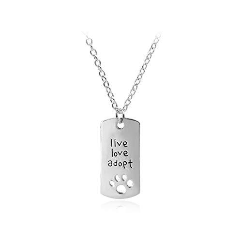 Pierced Jewelry - Collar de garra de perro para mascotas, 2 piezas C-Y (color: A1324)