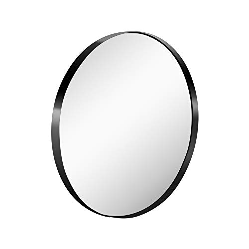 Grail 26 Inch Wall Mirror with Coating Steel Frame Wall Mounted Round -