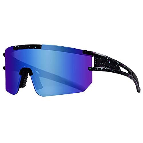Hombre Gafas De Sol Deportes Polarizado Súper Ligero TR90 Marco De Metal con protección UV para Acampar Playa Pesca,Azul