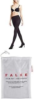 FALKE Set Washing Bag Strumpfhose Pure Matt 50 Denier Größe S-XL Damen schwarz hautfarbe viele weitere Farben Wäschebeutel Feinstrumpfhose verstärkt ohne Muster halb blickdicht matt dünn als Geschenk
