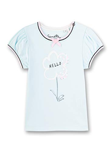 Sanetta Baby-Mädchen T-Shirt, Blau (Blau 5259), 80 (Herstellergröße: 080)