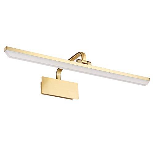 SACYSAC LED Espejo, a Prueba de Agua baño de luz, acrílico Pantalla de Maquillaje luz del Espejo, Bronce,Positive White Light,40cm