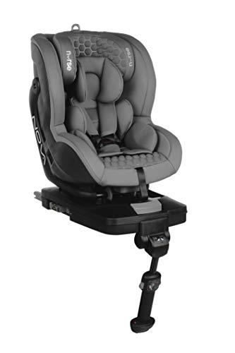 Nurse by Jané 728 234 NOVA Kindersitz Gruppe 0+ 1, Isofix, von 0 bis 18 kg, maximale Rücklehnung, inklusive Sitzverkleinerer, grau, 14.6 kg