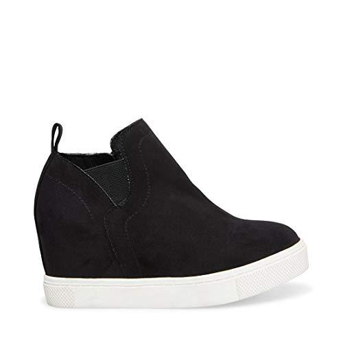 Price comparison product image Steve Madden Girls' JWRANGLE Sneaker,  Black,  5 M US Big Kid