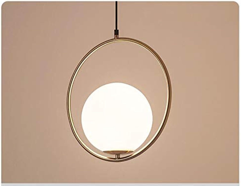 Nordic Kronleuchter Minimalist Art LED Kronleuchter Hang Glaskugel Wohnzimmer Schlafzimmer Minimalist Restaurant Bar Home Beleuchtung