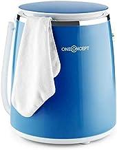 OneConcept Ecowash-Pico - Machine à laver de camping, Puissance d'essorage 135 W, Timer réglable, Lavage et essorage, Capacité : 3,5 kg, Etanche, Montage et démontage facile - Bleu