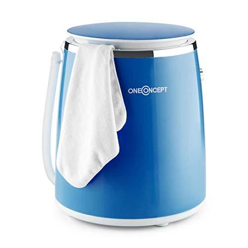 oneConcept Ecowash-Pico Edition 2020 Mini Waschmaschine Camping-Waschmaschine (Toploader mit Schleuder-Funktion für 3,5 kg Wäsche, 380 Watt, energie-und wassersparend, Timer) blau