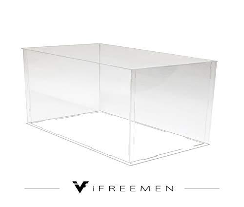 iFREEMEN アクリル コレクションケース フィギュアケース ディスプレイケース (30x15x15cm, 台座透明)