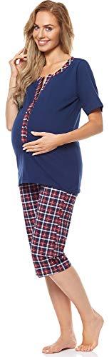 Be Mammy Premamá Pijama Dos Piezas Lactancia Ropa de Cama Maternidad Mujer H2L2N2