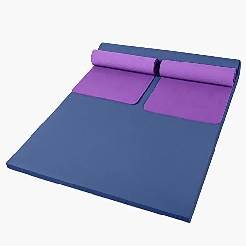 Estera de yoga grande, TPE ECO, estera de entrenamiento amigable, estera de ejercicio extra ancha, estera de gimnasio, estera antideslizante para gimnasio en casa, esteras de fitness para familia, muj