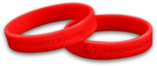 Fundraising For A Cause 50 Awareness Silicone Bracelets (Wholesale Pack - 50 Bracelets) (Anti-Bullying Red)