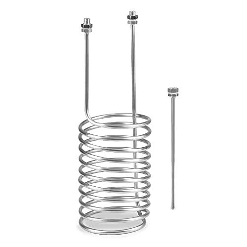 Klarstein Gärkeller Pro XL Espiral de refrigeración - Con varilla de sensor, Diámetro de 8 mm, Longitud 7,5 m, Incluye anillos de sellado, Acero inoxidable, Plateado