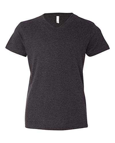 Youth Jersey Short-Sleeve V-Neck T-Shirt DRK GREY HEATHER S