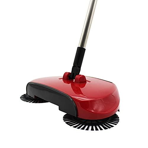 HuaShslt Escoba de Limpieza de Pisos Sweeper Brooms Lavadoras Limpiador Cepillo Casa Hogar Limpio Herramienta Máquina de Barrido Manija de Polvo (Color : Red)