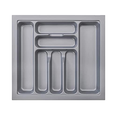 MUHOO Caja de Cubiertos, Bandeja Extensible para Cubiertos con 7 Compartimentos Bandejas para cubertería Organizador de Cubiertos 51.7x47.4x6cm