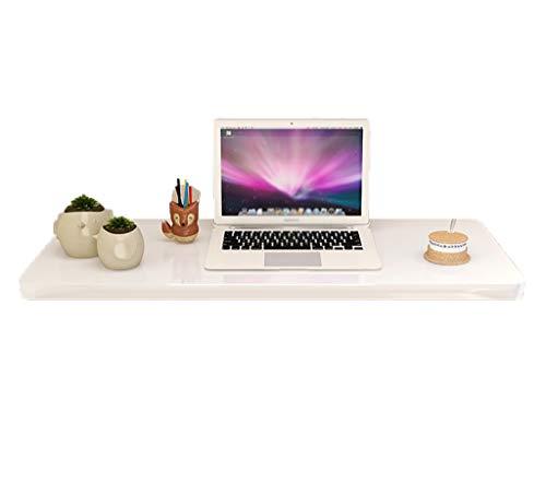 ZPWSNH Computertafel, kindertafel, keukentafel, de opvouwbare wand van het hangende blad van de tafel, wit en wit