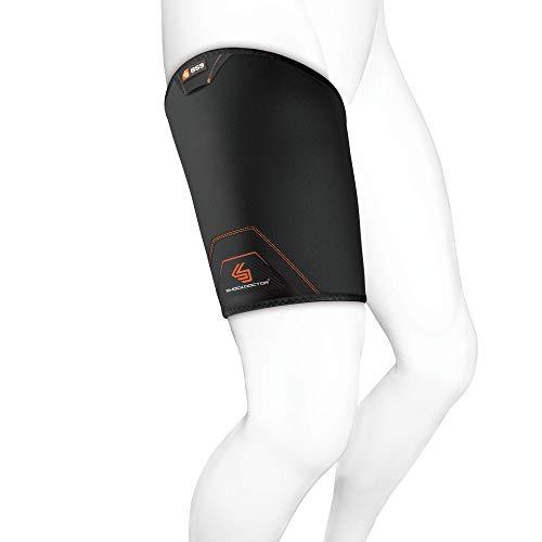 ShockDoctor Erwachsene Leistenbandage Oberschenkel Bandage, Black, L