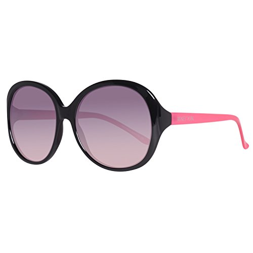 United Colors of Benetton BE984S01 Gafas de sol, Black/Pink, 56 para Mujer