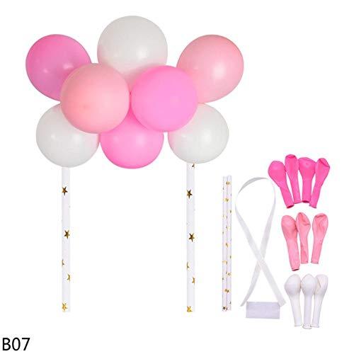 XCVB Desktop decoratie 10 stks 5 inch Latex Confetti Ballon Cake Topper Ballonnen Boog Cupcake Toppers Bruiloft Verjaardagsfeestje Cake Decor Tafel ornamenten, B07