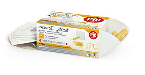 Pic Solution Pronto Digitest 25 Lancette E 25 Tamponcini G32-30 g