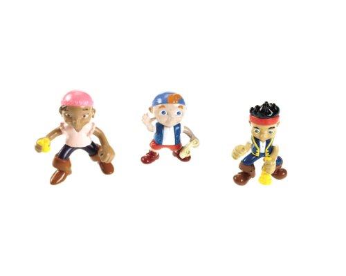 Mattel W5261 - Fisher-Price Jake und die Nimmerland-Piraten Figuren Jake, Izzy & Cubby, 3er Pack
