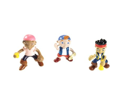 Mattel W5261 - Fisher-Price Jake und die Nimmerland-Piraten Figuren Jake, Izzy & Cubby, 3er Pack