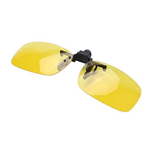 Huante rectangular amarillo claro lente sin montura, gafas de visión nocturna de conducción