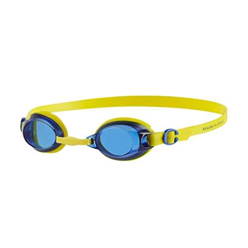 Speedo Jet Junior Gafas de natación, Unisex niños, Amarillo Imperio/Azul neón, One...